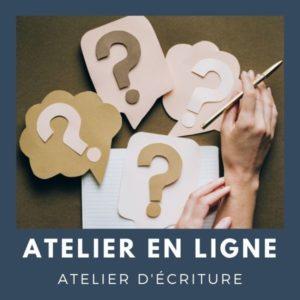 Atelier d'écriture en ligne - construire son intrigue   Fabienne Morel d'Arleux